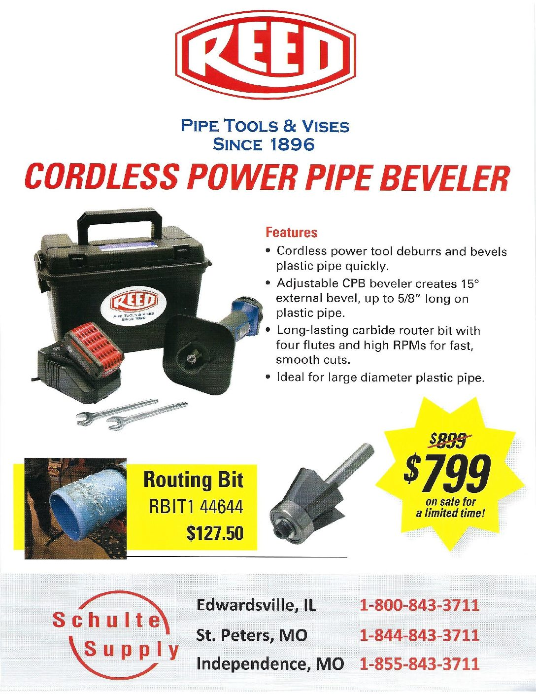 Reed pipe beveler discount